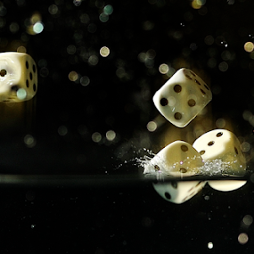 I am First by Vineet Johri - Artistic Objects Other Objects ( water, dice, dropped in water, splash, vkumar photography )