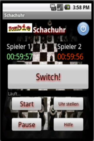 einfache Schachuhr deutsch