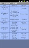 Screenshot of Rastreamento dos Correios