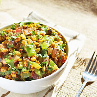 Grilled Tomatillo and Corn Salad