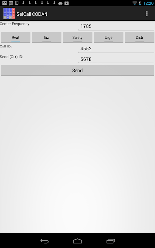 Selective Calling Generator - screenshot