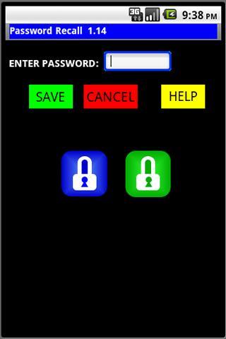 Password Recall Widget