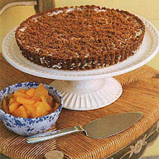 Gingersnap Crumble Ice-Cream Tart with Chunky Pineapple Sauce