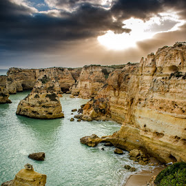 Algarve sunset by André Afonso - Landscapes Beaches ( , landscape, beach )