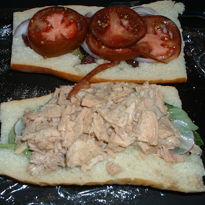 Pan Bagnat with Radish and Tuna