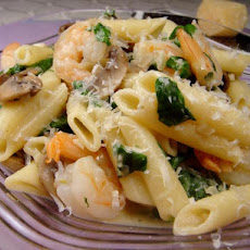 Creamy Shrimp and Spinach Pasta