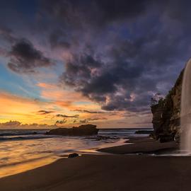 Melasti Beach by Yudik Pradnyana - Landscapes Beaches ( bali, waterscape, sunset, waterfall, rock, landscapes )