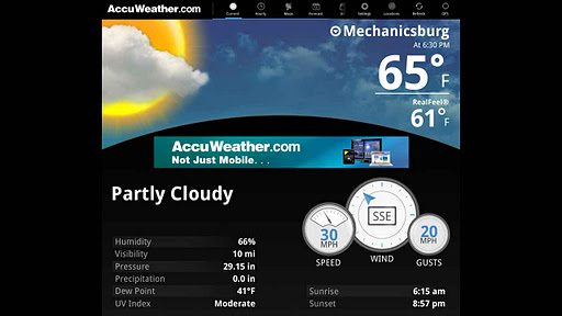 AccuWeather for Sony Tablet P