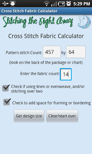 XStitch Fabric Calculator Pro