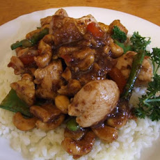 Springtime Chicken and Cashew Stir Fry