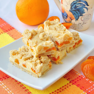 Apricot Orange Cheesecake Bars