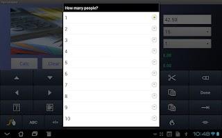 Screenshot of Tip Calculator for Tablets