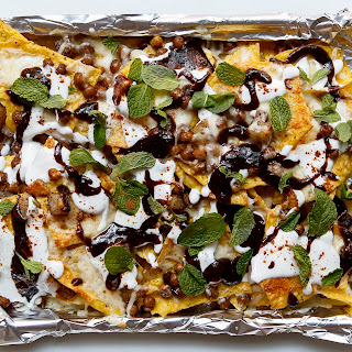 Indian-Style Nachos with Warm Spices and Tamarind Chutney