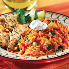 Cilantro Chicken With Zucchini Spanish Rice