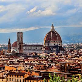 Florence by Oscar Alvarez - City,  Street & Park  Skylines ( florence, european cities, travel, duomo, italy,  )