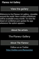 Screenshot of Flaneur Art Gallery