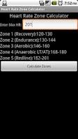 Screenshot of Heart Rate Zone Calculator