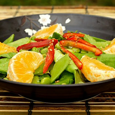 Orange and Edamame Salad