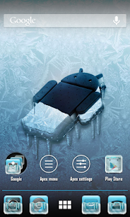 Frozen (ADW APEX NOVA Theme) - screenshot