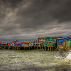 Stormy Day by Nick Foster - Landscapes Weather ( clouds, sea, weather, ocean, typhoon, seascape, storm, rain, city )