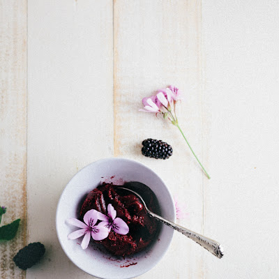 Blackberry Cabernet Sorbet | A Guest Post From Hummingbird High