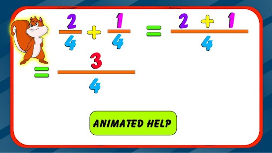 Fraction Addition Free - screenshot