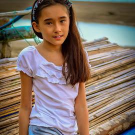 Simplicity by Nick Foster - Babies & Children Child Portraits ( children portrait, girl, simplicity, nature, simple, beach, boat, children photography, portrait )