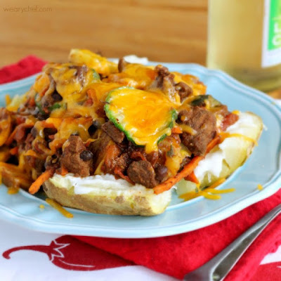 Vegetable Beef Chili Potatoes