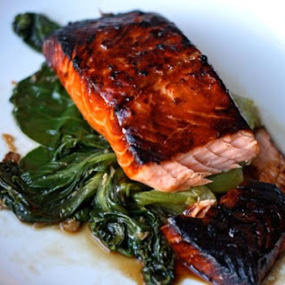 Honey-Soy Glazed Salmon with Bok Choy