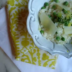 Spring Pea, Shallot, and Lemon Risotto