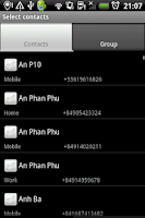 Screenshot of Group SMS Pro & Scheduler