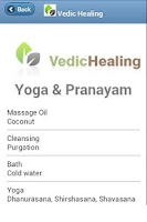 Screenshot of Vedic Healing
