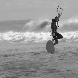 Up In The Air by Prentiss Findlay - Sports & Fitness Watersports ( wind, waves, sea, kiteboard, ocean )