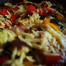 Orzo Salad with Giardiniera and Sun-dried Tomato Vinaigrette