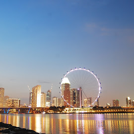Singapore Flyer  by Harry Botak - City,  Street & Park  City Parks