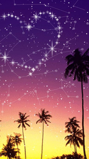 夜空のハート