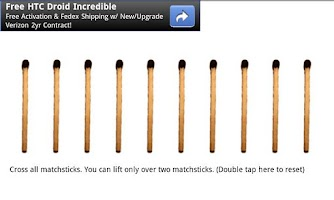 Screenshot of Cross Matchsticks