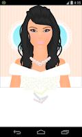 Screenshot of bride dress up games