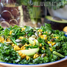 Superfoods Combo - Turmeric Chicken & Kale Salad With Honey Lime Dressing