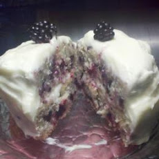 Blackberry Velvet Cake With Cream Cheese Icing
