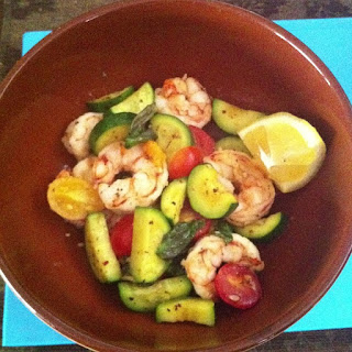 Summer Shrimp & Vegetable Sauté