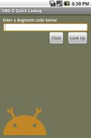 Screenshot of OBD-II Quick Lookup