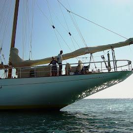 Schooner Sylvia by Ilse Gibson - Transportation Boats ( holiday, sailing boat, superyacht, luxury cruising, luxury yacht, luxury sailing, schooner )
