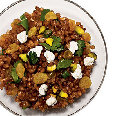 Wheat Berry Salad with Raisins and Pistachios