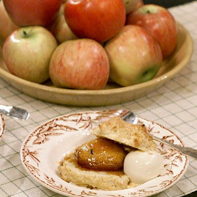 Jerry's Apple, Rosemary, and Caramel Shortcakes