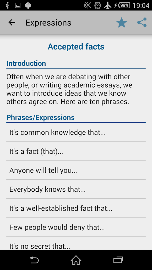 argumentative essay useful expressions