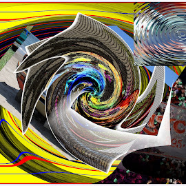 Old Twister by Joerg Schlagheck - Digital Art Abstract ( twister, imagined, new, disruption., gone, storm, hurricane )