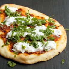 Toasted Stonefire Naan with Brooklyn Delhi Achaar and Raita