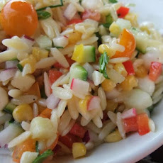Summery Chopped Orzo Salad