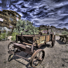 Old Wagon by Dave Zuhr - Transportation Other ( old, desert, wagon, d_zuhr, dzuhr, west )